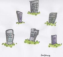 gravestones by weekwah