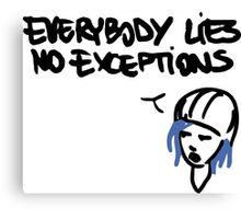 Chloe's Decal - Everybody Lies Canvas Print