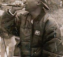 2Pac mic in hands by Monbey