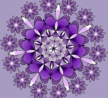violet and white mandala by resonanteye