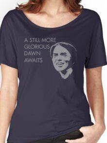 Carl Sagan - A Glorious Dawn (Grey) Women's Relaxed Fit T-Shirt
