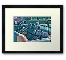 Chevy Bel-Air Convertible-interior Framed Print