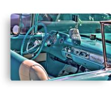 Chevy Bel-Air Convertible-interior Canvas Print