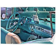 Chevy Bel-Air Convertible-interior Poster