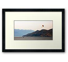 Parachute ride Framed Print