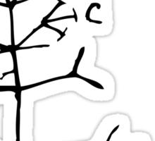 Darwin I Think Tree (Black) Sticker