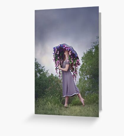 Perennial Parasol Greeting Card
