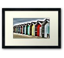 Blyth Beach huts Framed Print