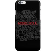 Rebel Soul Angela Davis Gil Scott Heron Getup iPhone Case/Skin