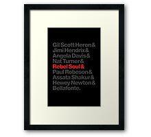 Rebel Soul Helvetica Ampersand T-Shirts & More Framed Print