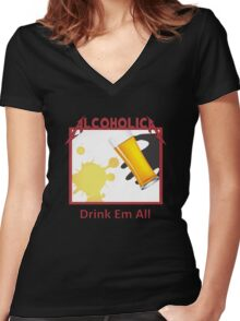 Alcoholica Women's Fitted V-Neck T-Shirt