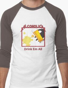 Alcoholica Men's Baseball ¾ T-Shirt