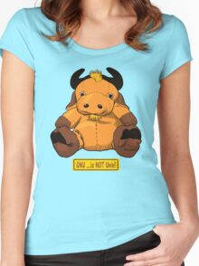 GNU...is NOT the same as UNIX! Women's Fitted Scoop T-Shirt