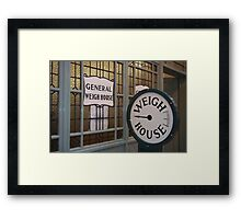 The Weigh House Framed Print