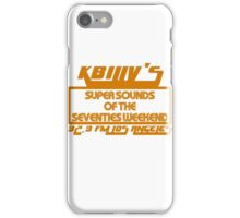 Super Sounds of the 70's Weekend (Orange) iPhone Case/Skin