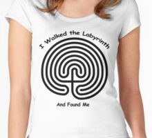 I Walked The LABYRINTH - and found me Women's Fitted Scoop T-Shirt