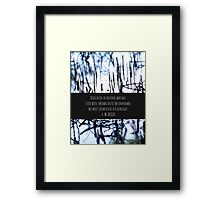 Dedicated to those left in the unknown Framed Print