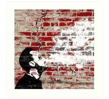 Graffiti Man Vaping Art Print