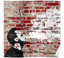 Graffiti Man Vaping Poster