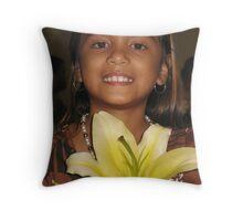 The Lovely Lily of Your Smile Throw Pillow