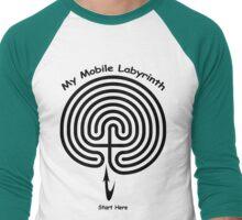 My Mobile Layrinth Men's Baseball ¾ T-Shirt