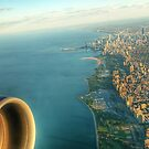 Approach to Chicago O'Hare Airport (ORD) by Ted Lansing
