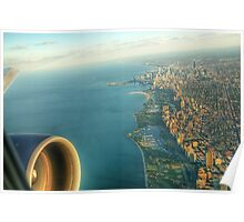 Approach to Chicago O'Hare Airport (ORD) Poster