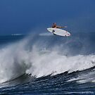 Surfer at Ala Moana Bowls by Alex Preiss