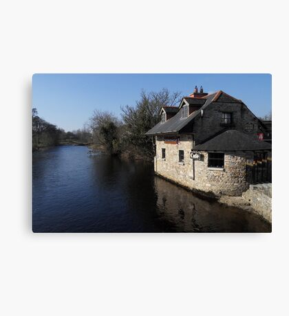 Coffee time on the River Canvas Print