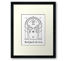Speak friend and enter (light tee) Framed Print