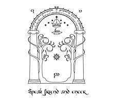 Speak friend and enter (light tee) Photographic Print