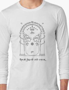 Speak friend and enter (light tee) Long Sleeve T-Shirt