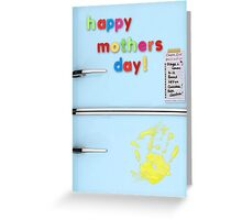 Nostalgic fridge Mother's Day greeting card Greeting Card
