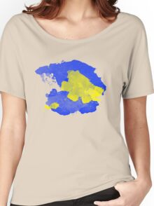 Watercolor Blue and Yellow Women's Relaxed Fit T-Shirt