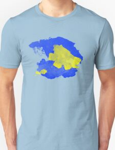 Watercolor Blue and Yellow T-Shirt