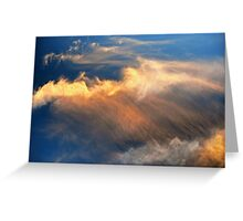 Cloudscape, Sunset Clouds Greeting Card