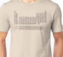 Periodic Table of Elements (Black) Unisex T-Shirt