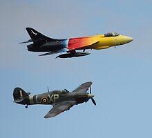 Hunter & Hurricane - Wings & Wheels Dunsfold 2010 by pathseeker