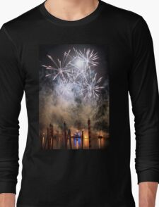 Fireworks on the Lagoon III Long Sleeve T-Shirt