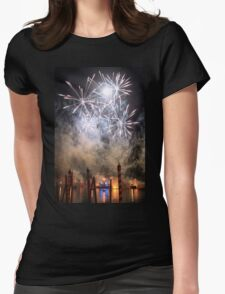 Fireworks on the Lagoon III Womens Fitted T-Shirt