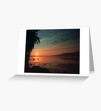 Sunset Over the Dock Greeting Card