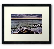 waves at the rye beach,nh Framed Print