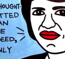 Margaret Mead Pop Folk Art Sticker