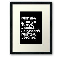The Original 7ven Morris Day Jimmy Jam Merch Framed Print