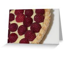 Ripe Raspberry Tart Greeting Card