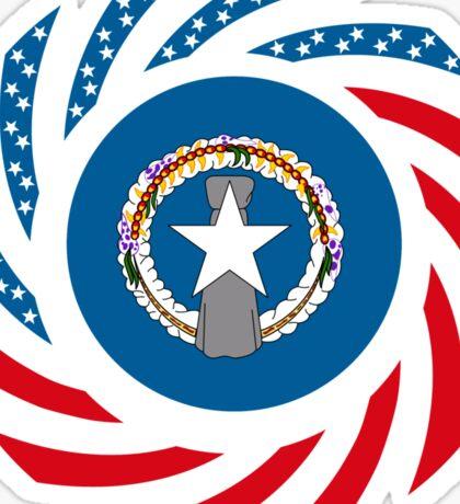 Northerna Mariana American Multinational Patriot Flag Series Sticker