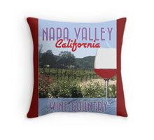 Napa Valley Wine Country Throw Pillow