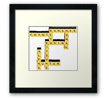Species | Scrabble Framed Print