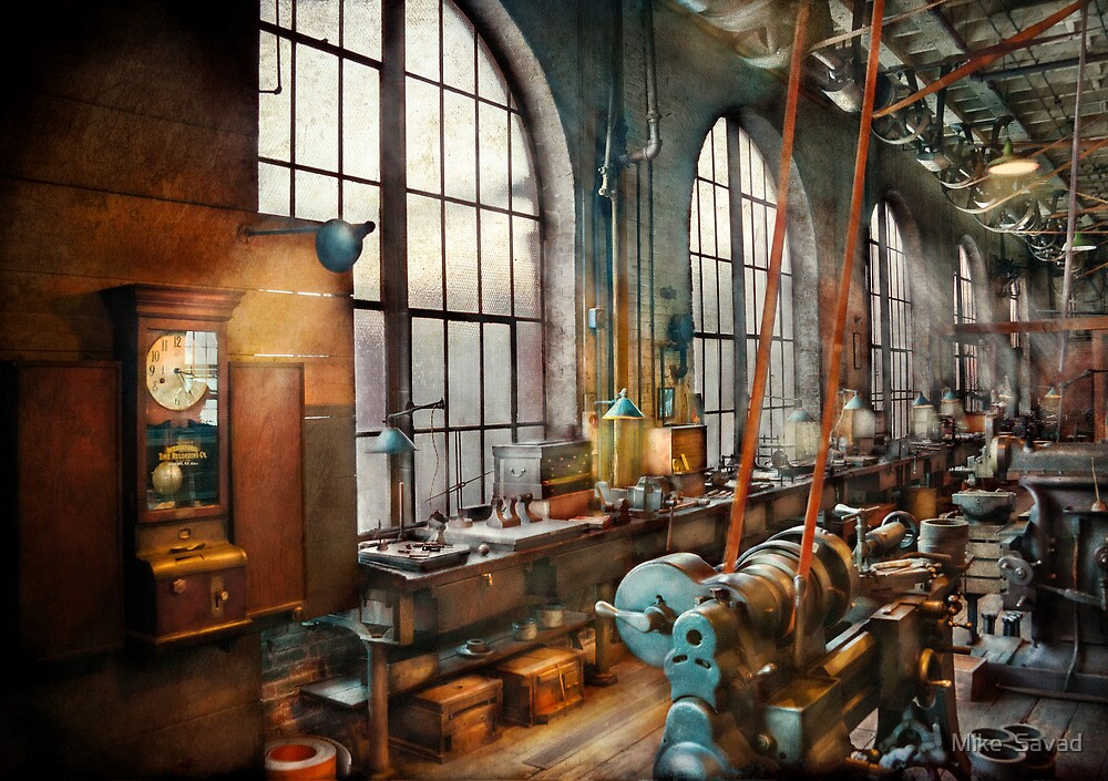 Building Trades - Machinist - Back in the days of yesterday by Mike  Savad