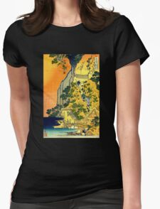 'Waterfalls in All Provinces' by Katsushika Hokusai (Reproduction) T-Shirt